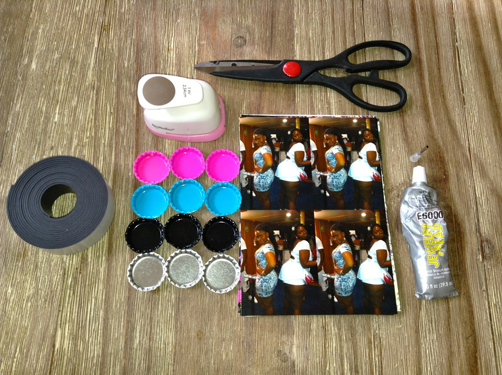 Diy Bottle Cap Picture Magnets Evolve With Mary